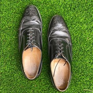 Johnston and Murphy Opima black lace up shoe